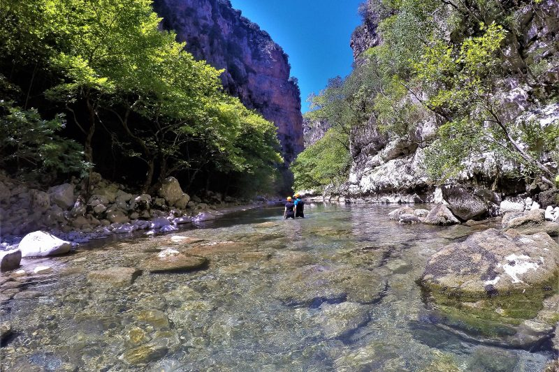 River Trekking the Vikaki Gorge